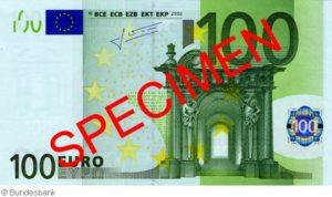 Maße 100 Euro Schein