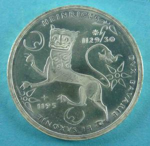 10 DM Gedenkmünze für Heinrich der Löwe