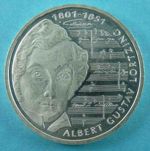 10 DM Gedenkmünze zum 200. Geburtstag Albert Gustav Lortzings