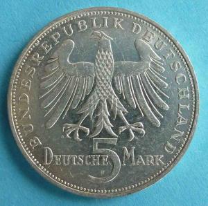"""5 DM Gedenkmünze """"Friedrich von Schiller"""""""