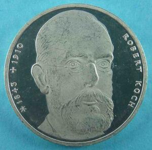 10 DM Gedenkmünze für den Bakteriologen - Robert Koch