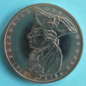 """5 DM Gedenkmünze """"Friedrich der Große"""""""