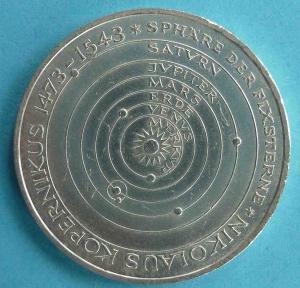 """5 DM Gedenkmünze """"Nikolaus Kopernikus"""""""