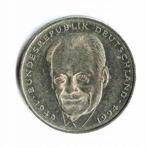 2 DM Münze 1994-2001 zu Ehren Willy Brandts