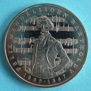 """5 DM Gedenkmünze """"Felix Mendelssohn Bartholdy"""""""