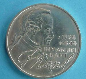 "5 DM Gedenkmünze ""Immanuel Kant"""