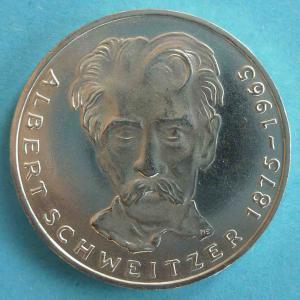 "5 DM Gedenkmünze ""Albert Schweitzer"""