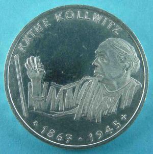 10 DM Gedenkmünze für Käthe Kollwitz