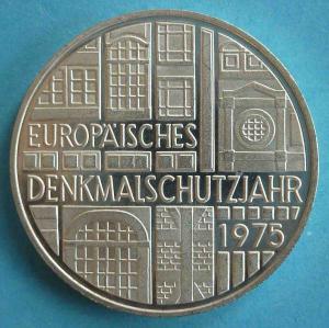 """5 DM Gedenkmünze """"Europäisches Denkmalschutzjahr 1975"""""""