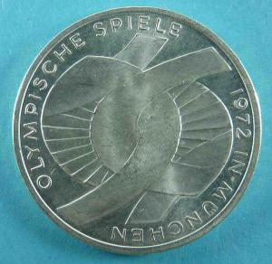 """10 DM Gedenkmünze """"Serie Olympiade 1972 Verschlungene Arme"""""""