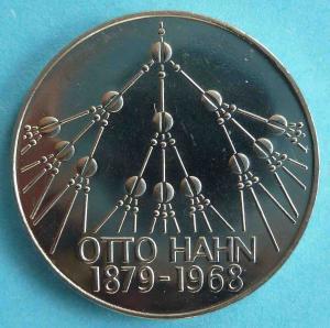 """5 DM Gedenkmünze """"Otto Hahn"""""""