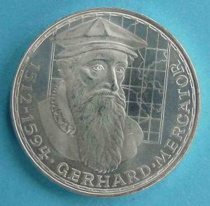 """5 DM Gedenkmünze """"Gerhard Mercator"""""""
