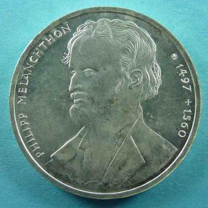 10 DM Gedenkmünze an den Reformator Phillip Melanchthon