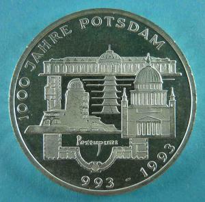 10 DM Gedenkmünze zu 1000 Jahre Potsdam