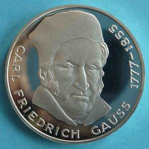 "5 DM Gedenkmünze ""Carl Friedrich Gauss"""