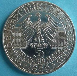 """5 DM Gedenkmünze """"Markgraf von Baden"""""""
