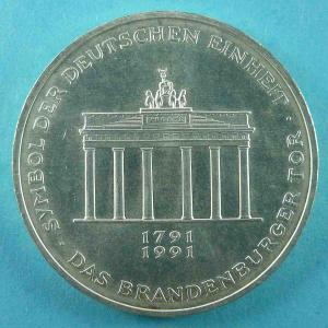 10 DM Gedenkmünze - 200 Jahre Bestehen des Brandenburger Tors