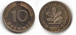 10-Pfennig-Münze von 1949