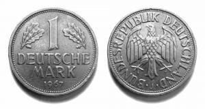 1 DM Münze von 1950-2001