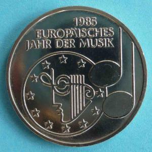 """5 DM Gedenkmünze """"Europäisches Jahr der Musik 1985"""""""