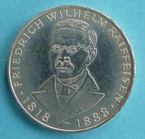 """5 DM Gedenkmünze """"Friedrich Wilhelm Raiffeisen"""""""