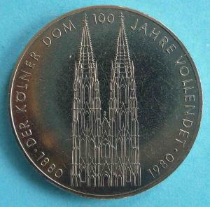 """5 DM Gedenkmünze """"Kölner Dom"""""""