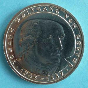 "5 DM Gedenkmünze ""Johann Wolfgang von Goethe"""