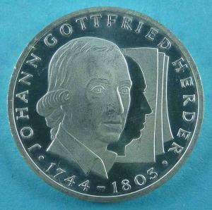 10-DM Gedenkmünze von Johann Gottfried Herder