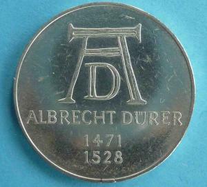 "5 DM Gedenkmünze ""Albrecht Dürer"""