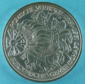 10 DM Gedenkmünze 30 Jahre Römische Verträge